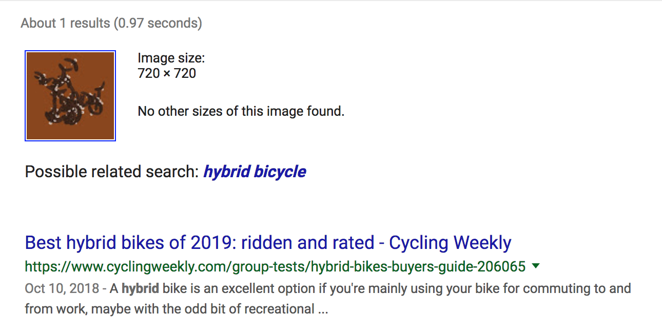 Bird or Bike in Google's Eyes